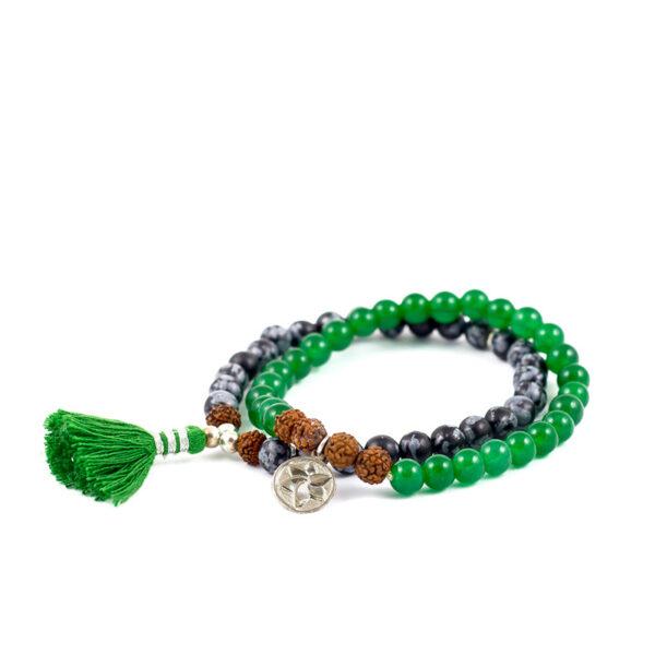 oh bali Harmony Jade Armbandset Obsidian