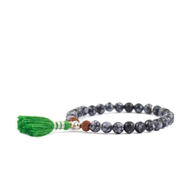 oh bali harmony schneeflocken obsidian armband