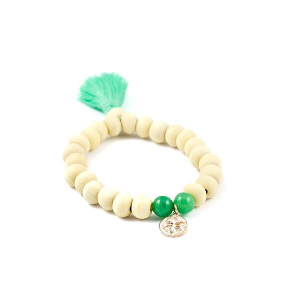 oh bali Earth Holz Armband Jade