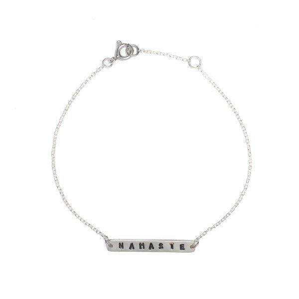 Armband Namaste silber