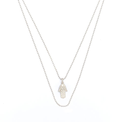 Silberkette Hamsa Hand