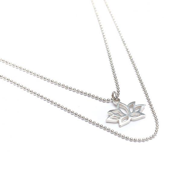 Silberkette Lotus