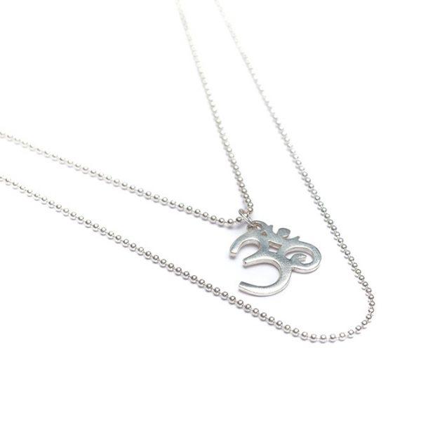 Silberkette Om Zeichen
