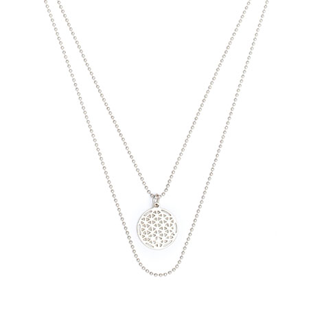 Silberkette Flower of life