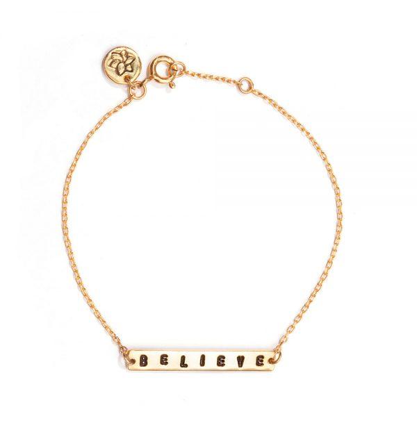 ohbali armband believe gold web
