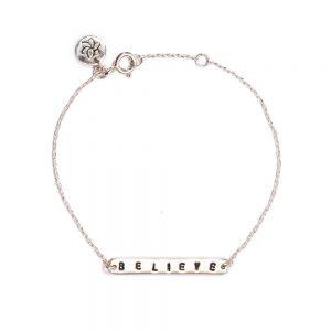 ohbali armband believe silber web