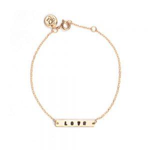 ohbali armband love gold web