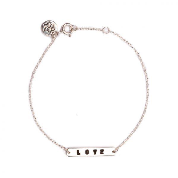ohbali armband love silber web