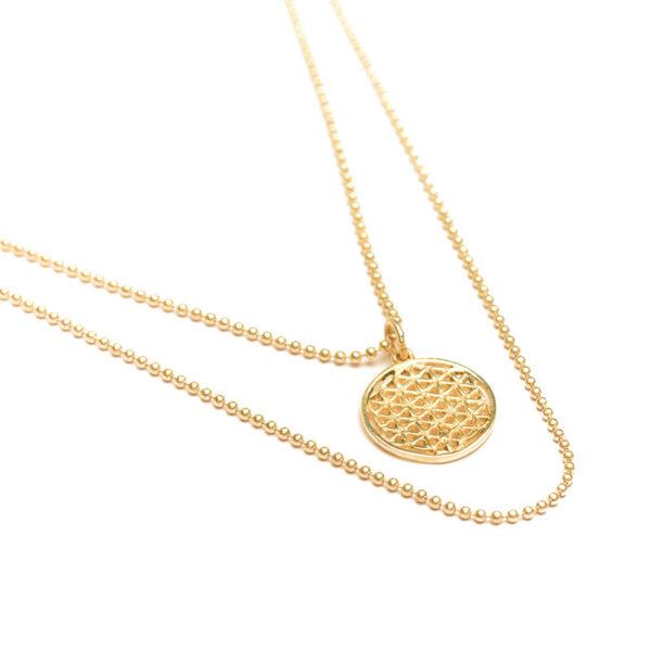 ohbali Blume des Lebens Kette Gold