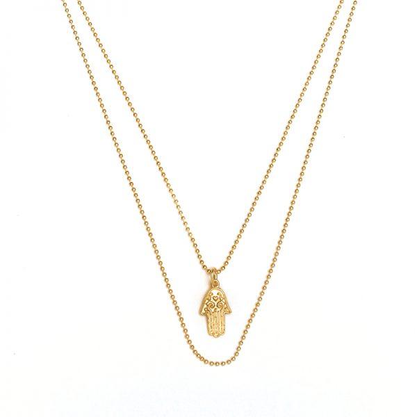ohbali Goldkette Hamsahand detail