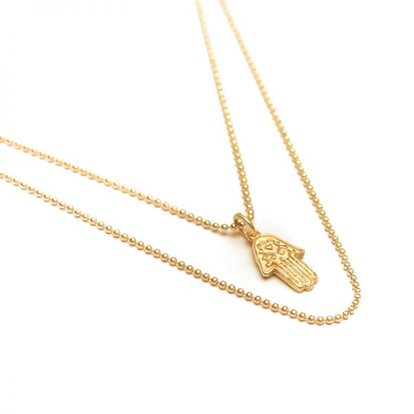 ohbali Goldkette Hamsahand detail2