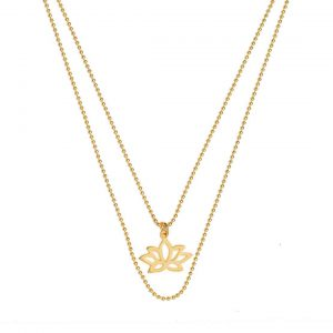 ohbali Goldkette Lotus detail