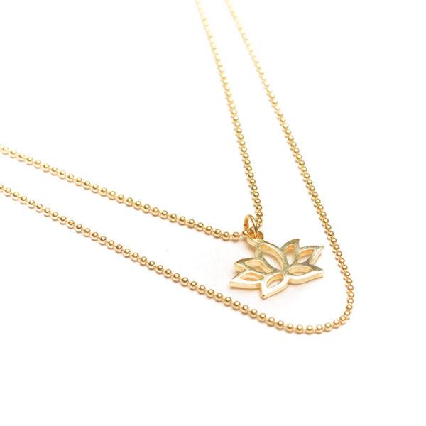 oh bali Lotus Kette gold